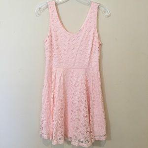 Acemi light pink lace dress